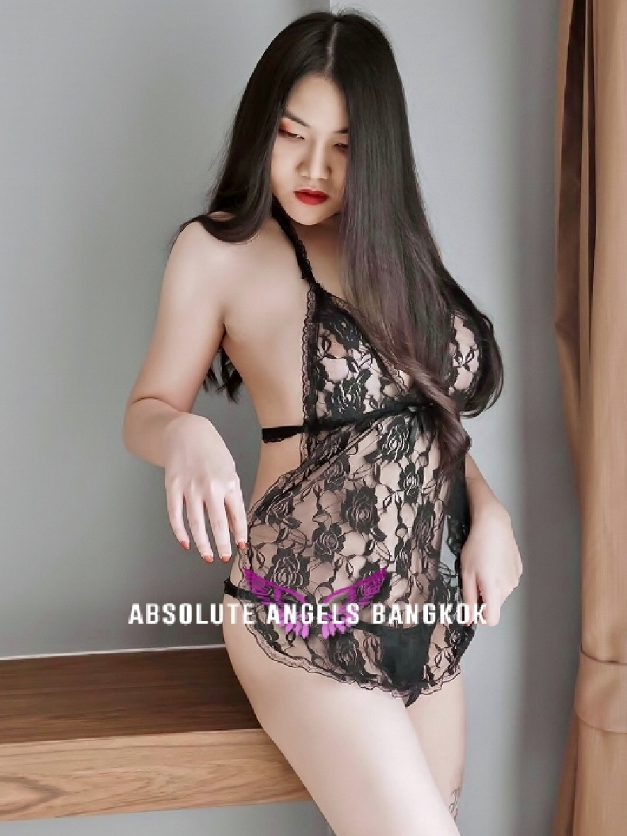 Coco in see through lingerie